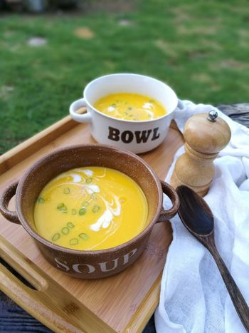 EyeEm Selects Food And Drink Healthy Eating Food Bowl High Angle View Plate Soup No People Table Ready-to-eat Freshness Soup Lover Soup Of The Day Vegetable Soup