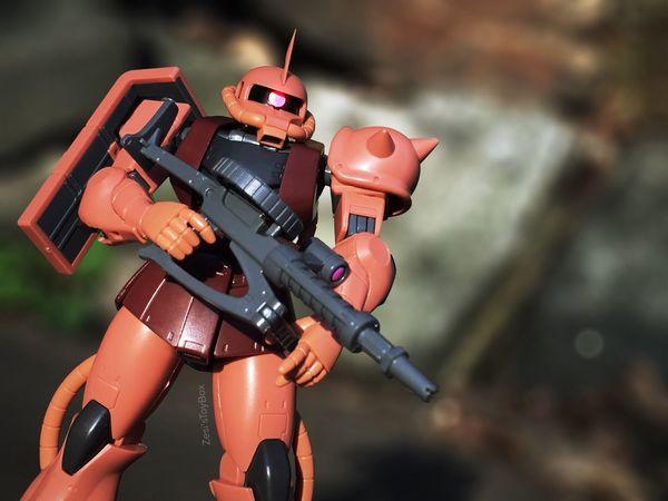 Char. Toyphotography Toy Photography Toy Toys Zaku Gundam Retro Toycommunity EyeEm Best Shots Toyinstagram EyeEm IPhoneography Iphonephotography Photography Anime Manga RobotSpirits RobotDamashii