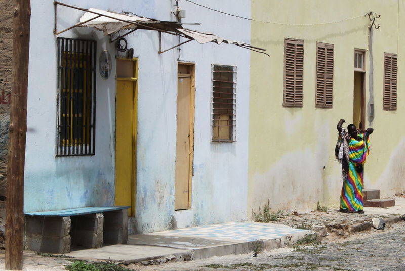 Architecture Building Exterior Built Structure Capo Verde Espargos Full Length Lifestyles One Person Outdoors Real People Rear View Sal Island Street Photography Summer 2015 Woman