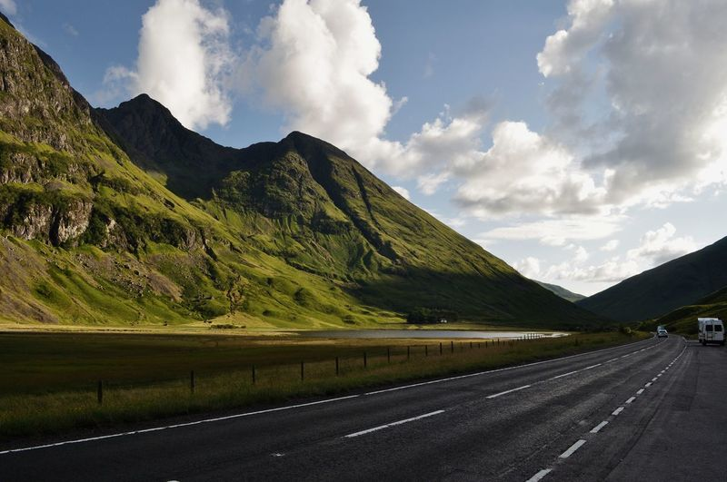 Road to Highland Mountain Road Highlands Of Scotland Clouds Cloud - Sky Mountain Range Outdoors