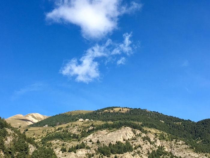 Andorra Travel Destinations Travel Sky Beauty In Nature Mountain Scenics - Nature Tranquility Cloud - Sky Tranquil Scene Blue Nature Landscape Environment Idyllic Day No People Mountain Range Outdoors Non-urban Scene Plant Remote Sunlight