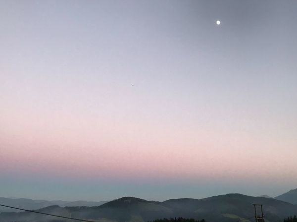 Sky Beauty In Nature Moon Scenics - Nature Tranquil Scene Mountain Silhouette Copy Space