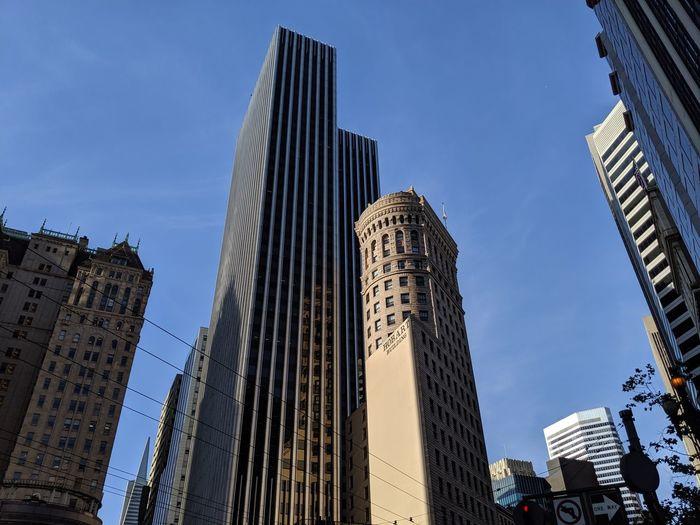 City Cityscape Urban Skyline Modern Skyscraper Business Finance And Industry Business Office Illuminated Sky