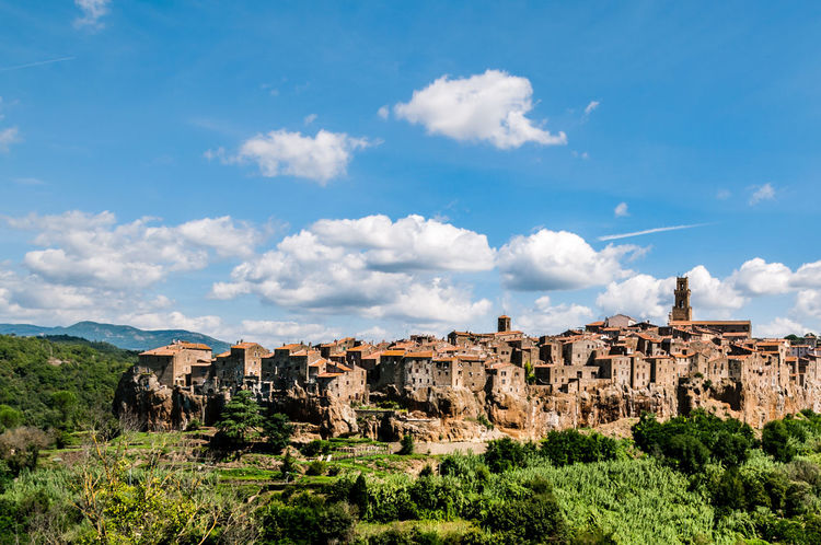 Pitigliano in Tuscany Etruscan Tuscany Architecture Built Structure History Italy Landscape No People Outdoors Pitigliano Sky Travel Destinations Tuff