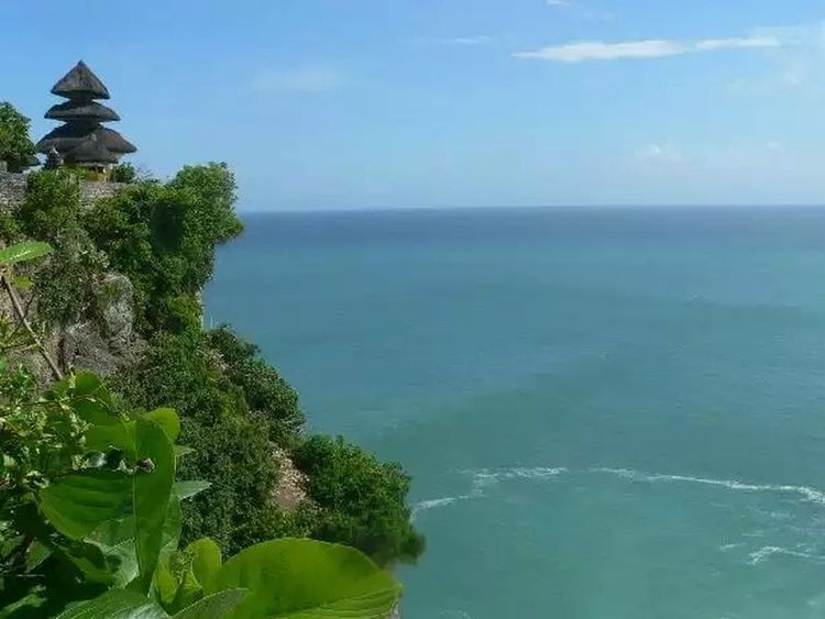 Beautiful daytime at uluwatu tample