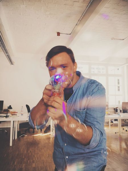 In Your Face Bubble Gun Attack Faces Of EyeEm