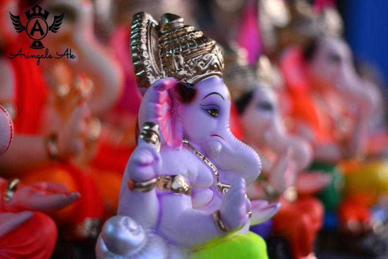 Selective Focus Colorful Focus On Foreground Festive_season Ganesh Chaturthi First Eyeem Photo