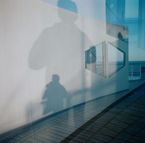 My Shadow Taking Photos Lubitel 166+ Real Film