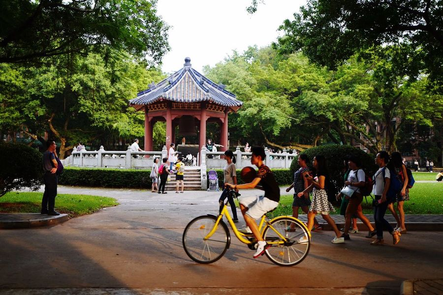 Campus time 🚲🎷🥁🎨🏀⚽️ Sun Yat-sen University China Guangzhou Bicycle Architecture Outdoors Leisure Activity Fine Art City Urban Urban Exploration The Week On Eyem EyeEmNewHere Still Life Low Angle View Close-up Adapted To The City Nature Sunlight Cityscape Sunset Lifestyles The City Light