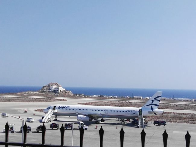 Traveling Home For The Holidays Sea Sky Beach Horizon Over Water Nature Day Aegean Sea Aegeanairlines Plane Airplane Airport