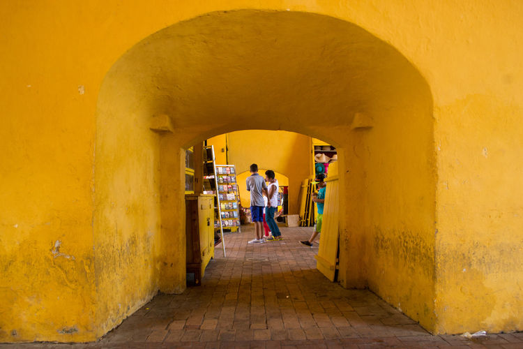 Arch Architecture Cartagena Cartagena, Colombia Childhood Colombia Colombia ♥  Colorful Day EyeEm Best Shots EyeEm Gallery Full Length Indoors  Kids People People And Places Photographer Tunnel Vacations