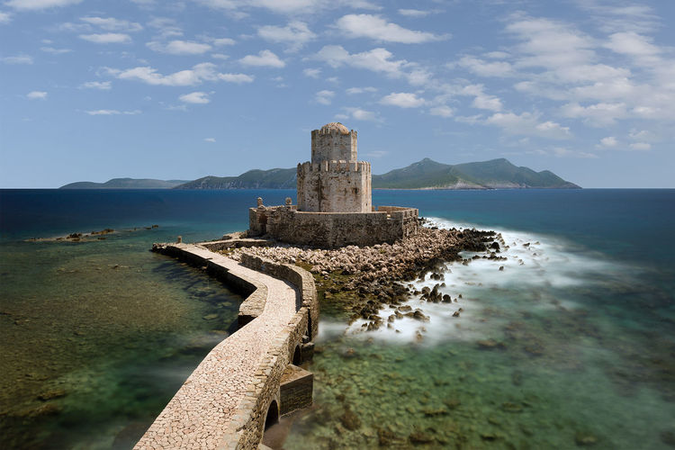 The part of the Methoni Castle that used to be a prison back in the old days. Aegean Afternoon Castle Cloudy HUAWEI Photo Award: After Dark Hellas Mediterranean  Methoni Methoni Castle Path Sunny Wave Clouds Greece Island Ocean Peloponisos Peloponnese Prison Rocks Sea Sky Sunshine Water Waves