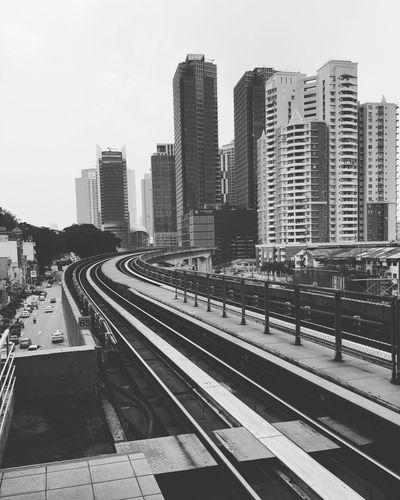 Building Exterior Buildings Monorail  Train Station Blackandwhite City View  City Kuala Lumpur Malaysia Bangsar