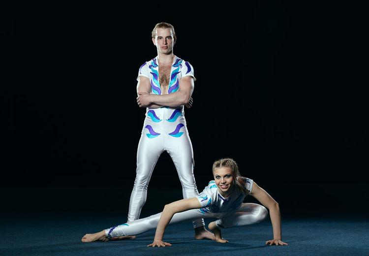 Acrobatics  Artist Caucasian Circus Dance Dancing Exercise Gymnastics Man Performance Professional Show Sport Training Two White Woman Yoga Young Adult