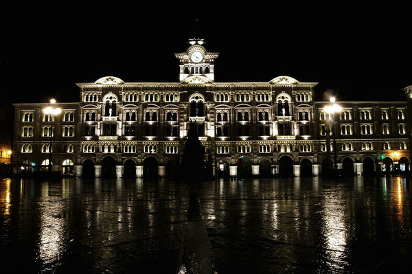 Italy, Trieste, piazza Unita d'Italia by night City Cityscape Nightphotography Piazza Unita D'Italia Rain Rainy Days Rainy Night Trieste Architecture Building Exterior Built Structure City Night Empty Square Heritage Illuminated Italian Architecture Italy Night No People Piazza Unità Sky Tourism Travel Travel Destinations Urban