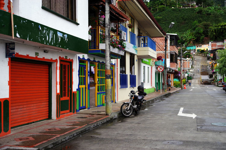 Street scene in Buenavista, Colombia, South America Transportation City Day Colombia Colombia ♥  Colombia Es Bella Buenavista Buenavista Colombia Coffee Region South America Travel Travel Destinations Travel Photography Traveling Cityscape Landmark Landmarkbuildings Street Street Photography Pavement Antioquia Colombian  Landscape_Collection Landscape_photography