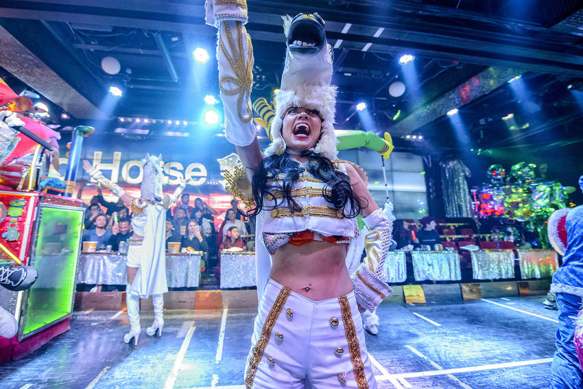 Robot Restaurant show Adult Adults Only Colorful Colourful Entertainers Entertainment Fun Fun Human Body Part Indoors  Japanese Culture Japanese Style Kabukicho Night One Person Only Women People Robot Restaurant Show Young Adult