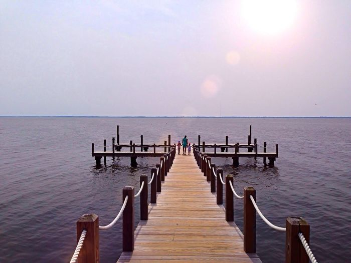 A lone dock in Duck along the Outer Banks of North Carolina. Ips Water IPhoneography Iphoneonly The Moment - 2015 EyeEm Awards