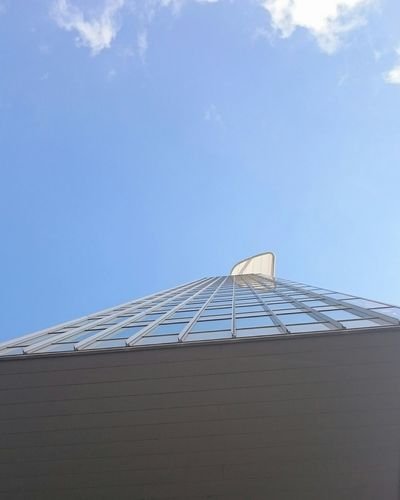 Close-up of roof against blue sky