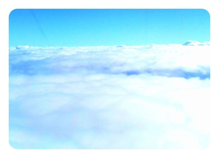 Skylove Sky Collection Blue Sky Hello World From An Airplane Window White
