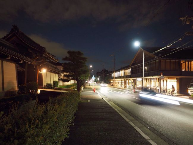 Kyoto Japan Higashihonganji City Street Cityview Night Olympus PEN-F 京都 日本 東本願寺 街中 夜