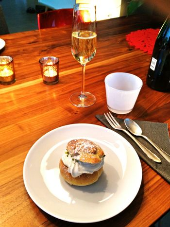 Semlor and champagne Foodporn Swedish Delight Homemade Delicious Food
