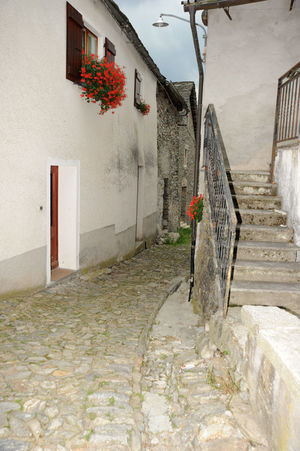 Quite and peace in italian alps village Calm Country Architecture Building Building Exterior Built Structure Day House Italy No People No People, Outdoors Quite Place Residential Building Stones