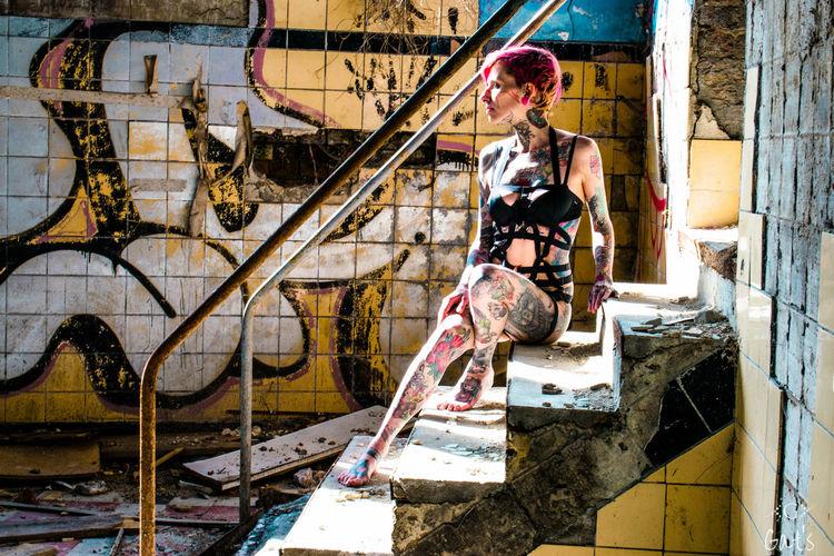 One Person Tattoo Urbex Model