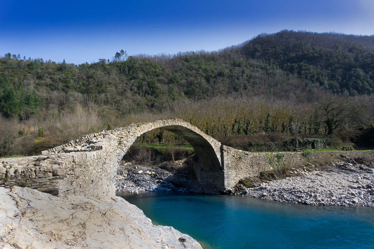 Borghetto D'arroscia Nature Romans Ancient Bridge Bridge Italy Liguria River Spring Water