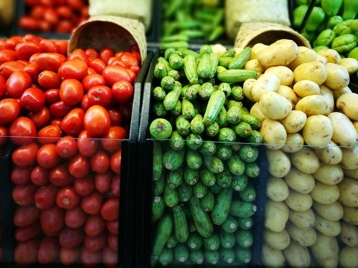 Vegetables at shop for sale