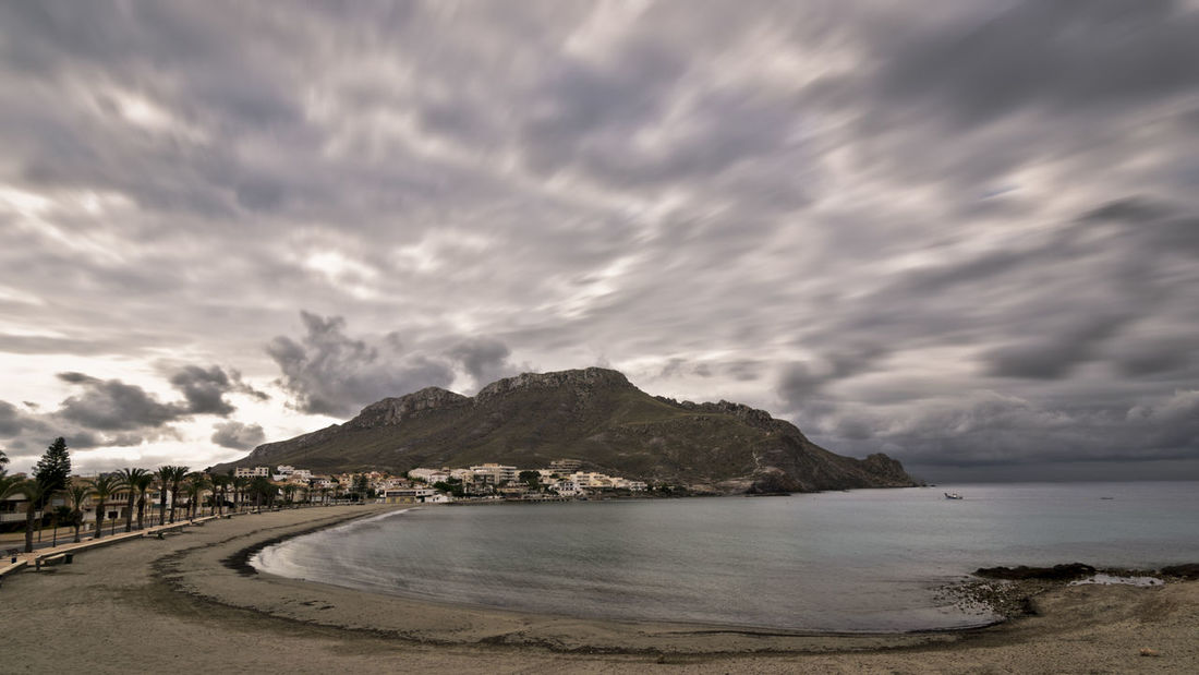 Aguilas Beach Calabardina Cloud - Sky Day Dramatic Sky Landscape Mountain Murcia Napatu Nature No People Outdoors Sea Sky Storm Cloud