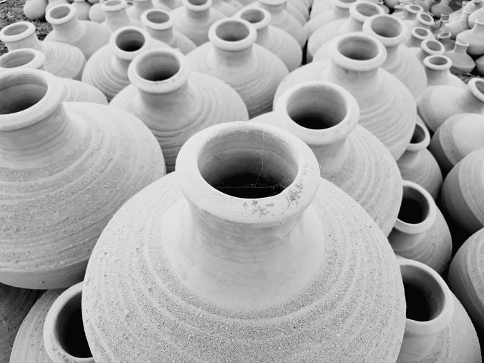 14 Workshop Clay Earthenware Business Finance And Industry Close-up Pottery Many Group Block Craft Product Terracotta Ceramics Pot Mud Pitcher - Jug Molding A Shape Muddy Jug Sculptor