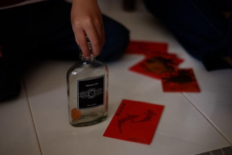 Ang Pow Ang Pows B Bottle Chinese New Year Human Hand