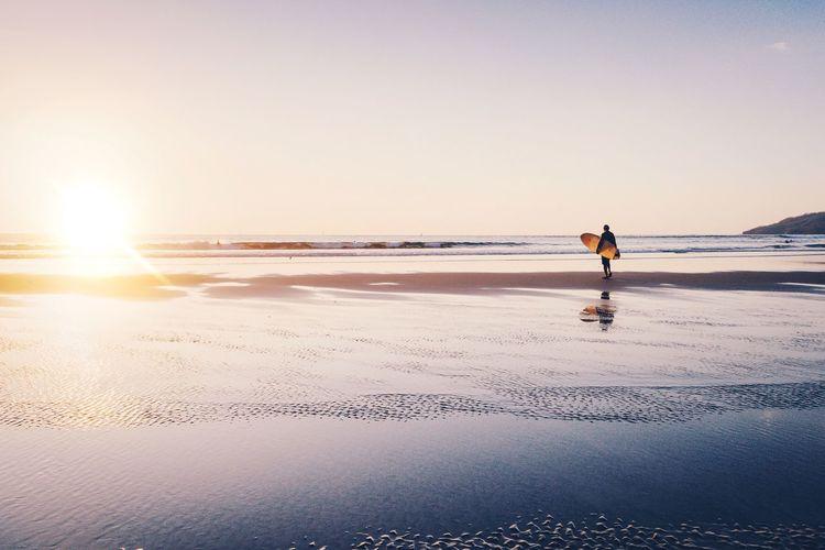 Sunset Sun Landscape Silhouette Light Beach Vscocam VSCO Nature Sunshine