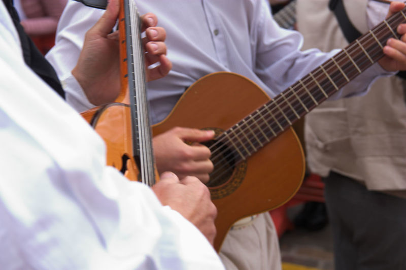 Group of guitarists Guitarra Verbena De La Paloma Arona Arts Culture And Entertainment Close-up Day Guitar Guitarist Guitarra Española Human Hand Men Midsection Music Musical Instrument Musician Occupation Outdoors Performance Playing Real People Skill  Tenerife Togetherness Traditional Festival Two People
