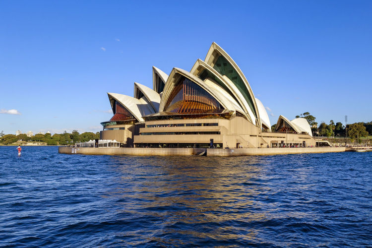 Sydney Opera House. Harbour Harbour View Sydney Opera House Sydney, Australia Arch Bridge Architecture Blue Building Building Exterior Built Structure Clear Sky Day Nature No People Outdoors Sea Sky Tranquil Scene Transportation Travel Travel Destinations Water Waterfront