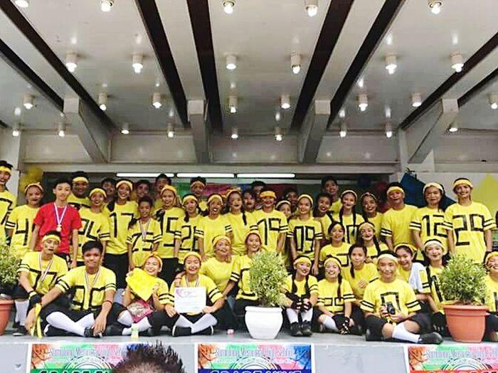 Intramurals Yellow Cheerdance Sumulong Memorial High School Smhs Yellow Team will miss u all yellow 😭