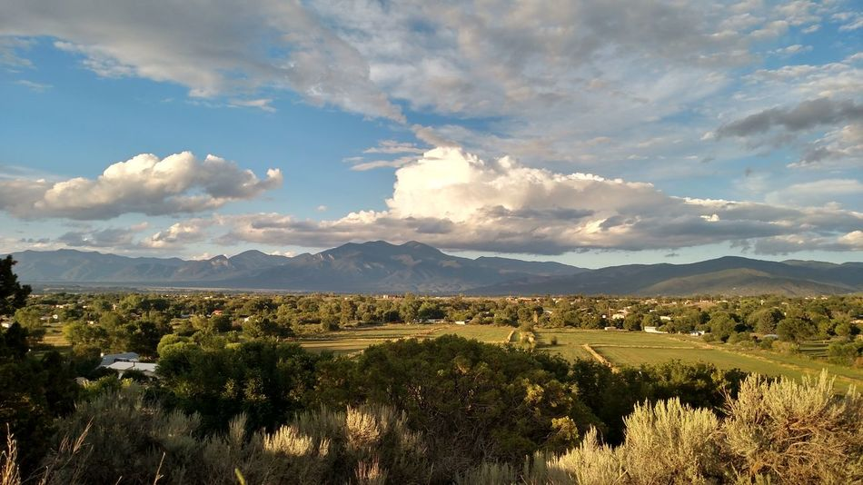 Taos Mountain Taos New Mexico Land Of Enchantment Mountain Cloud - Sky Tree Nature Landscape Mountain Range Agriculture Rural Scene