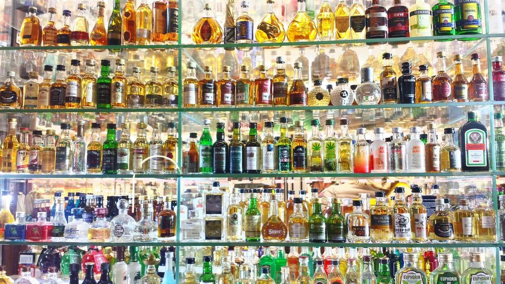 Alcohol Bottles Colourful Bottles Window Display Photography Huge Selection Of Spirits In Mini Bottles As Window Display Window Shopping in Prague Window Displays Window Decorations Absinthe Whiskey And Co.... Mini Bottle Alcoholic Beverages Alcoholic Drink Spirits Huge Variety Of Spirits In Mini Bottles Colourful Alcoholic Drinks Window Display With Alcoholic Drinks Schnapsflaschen Spirits Window Display Alcohols Schnaps Spirits From Around The World Worldwide Spirits Displayed In A Window Worldwide Spirits Food Stories