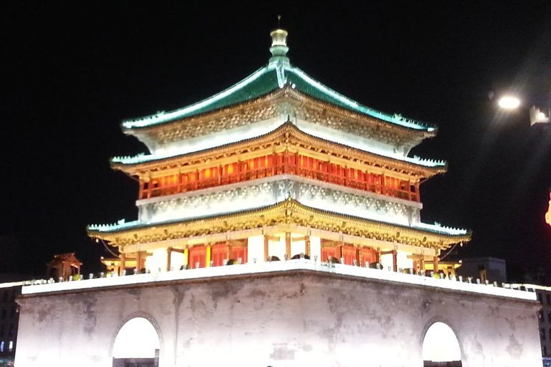 Bell Tower Drum Tower Xian China City Place Of Worship Beauty Religion Cultures History Architecture Building Exterior Sky Built Structure Civilization Ancient Ancient Civilization Ancient History Pagoda
