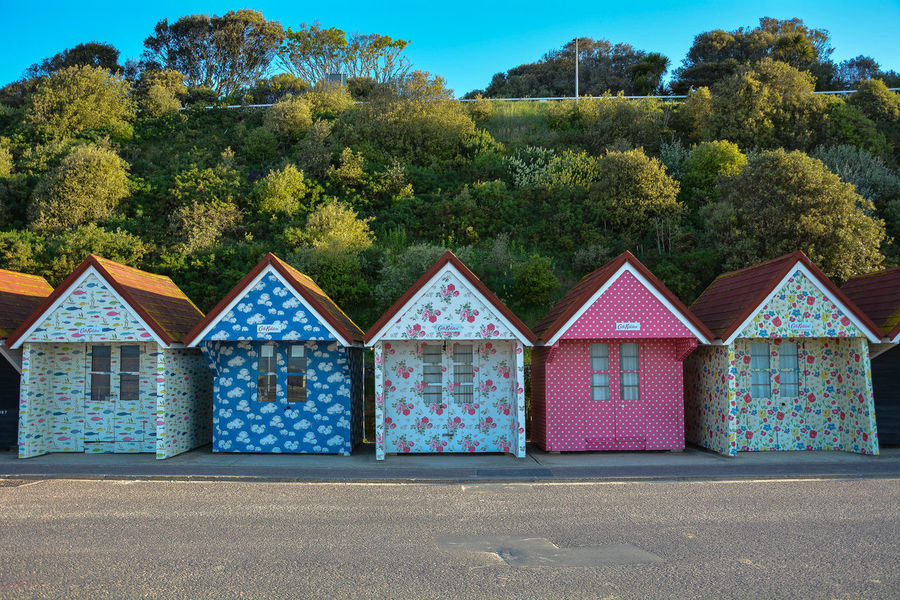 Cath Kidston Beach Huts Bournemouth Beach Huts Cath Kidston Dorset Beach Promenade Bournemouth Beach Colourful Design Commissionwork Painted Beach Huts