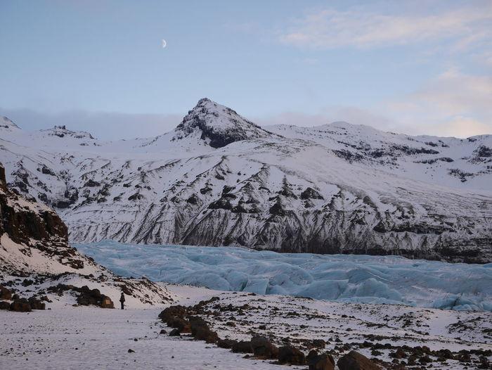 Idyllic shot of glacier against sky