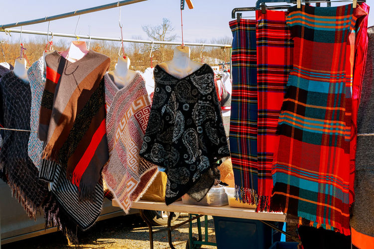 Clothes Hanging On Rod For Sale