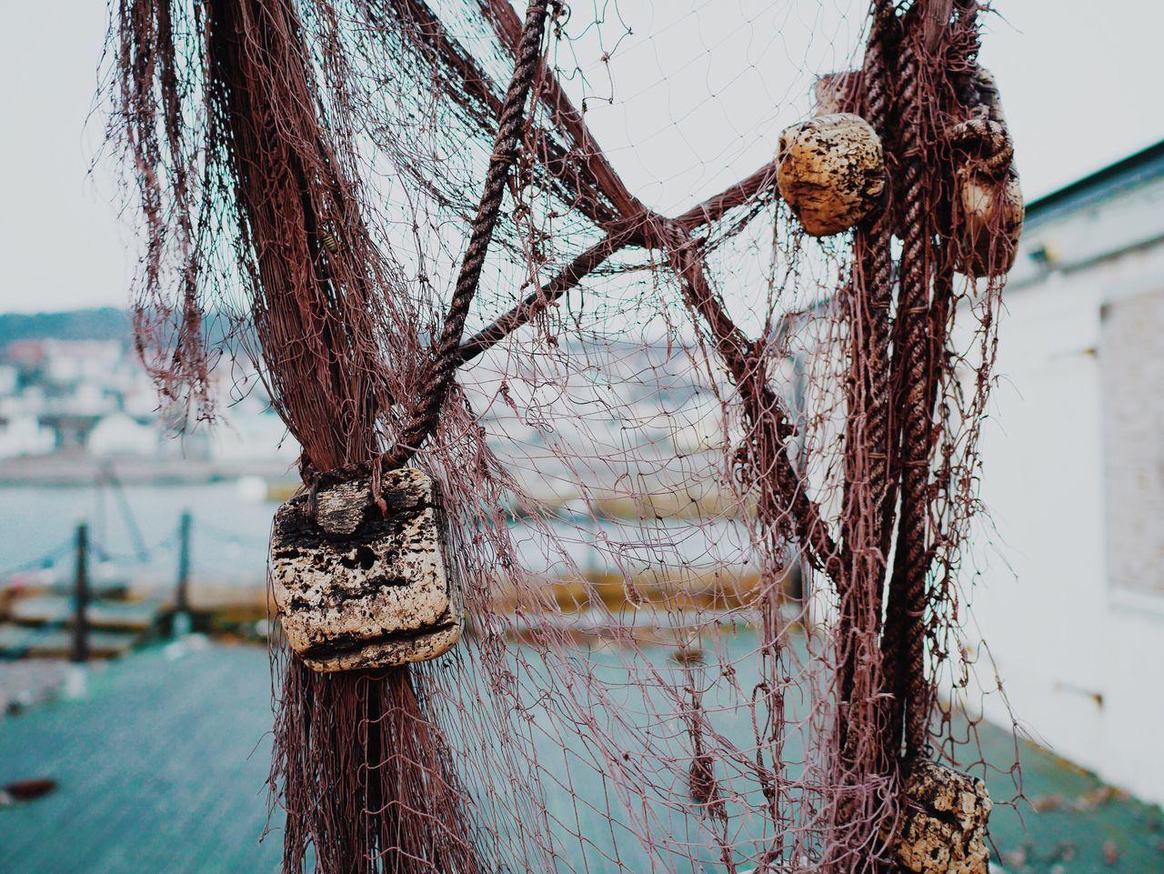 Close-Up Of Abandoned Fishing Net