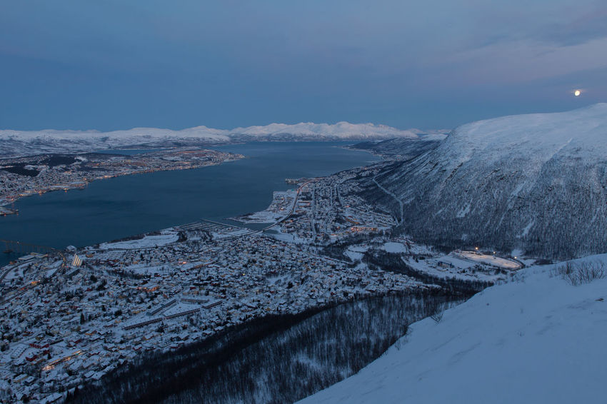 Arctic City Cold Cold Temperature Fjord Frozen Mountain Norway Outdoors Polar Night Residential District Scenics Snow Snow Covered Snowcapped Mountain Town Tranquil Scene Troms Tromsø Winter Winter