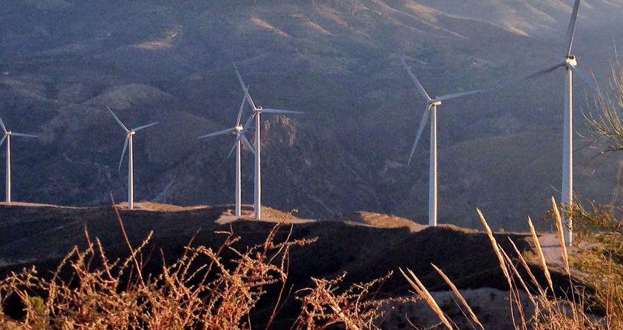 Wind farm near Lanjeron, Granada