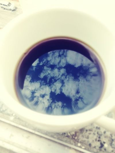 Coffee Black Coffee Sky Earth Reflection Reflections Clouds And Sky