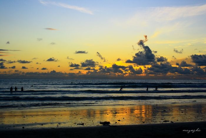 Keep calm and enjoy sunset Sunset Beach Sea Water Outdoors Travel Destinations Landscape Silhouette Sky Sunset And Clouds  sunset #sun #clouds #skylovers #sky #nature #beautifulinnature #naturalbeauty photography landscape Sunsetporn Sunset_captures