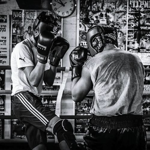 Men Two People Only Men Adult People Indoors  Kick Boxing Kickstagram Kickboxing Kickboxer MuayThai Sport Blackandwhite Black & White Adults Only Day