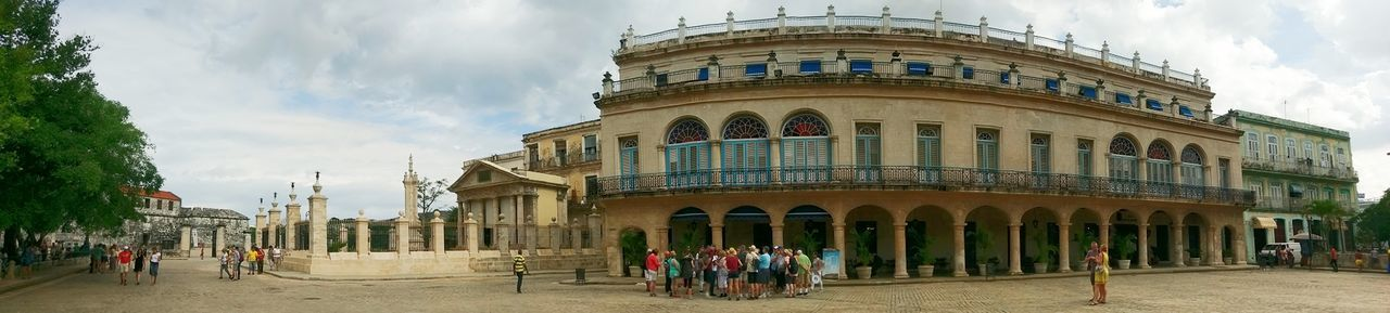 Cuba Architecture Building Exterior Built Structure Travel Destinations Panoramic History Large Group Of People Architectural Column Politics And Government Outdoors People Havana, Cuba Havana Havana Vieja Havanasphoto